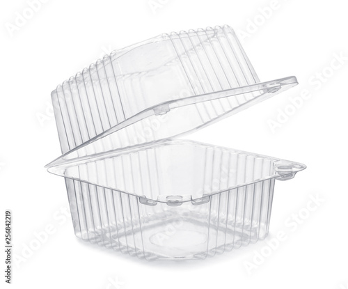 Fotomural Open empty transparent plastic food container