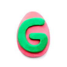 Plasticine Letter G In The Sha...