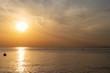 海と夕日 千葉県市原市五井海岸