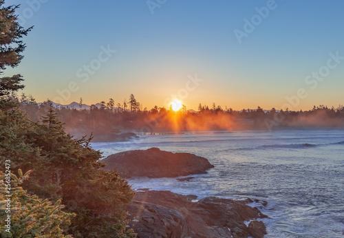 Fototapeta ocean sunrise obraz na płótnie