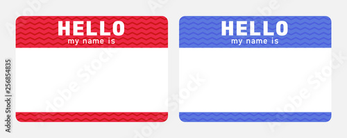 Hello my name is - sticker Canvas Print
