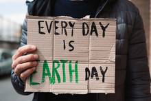 Text Every Day Is Earth Day In...