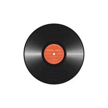 Retro Style Vinyl Disc With La...