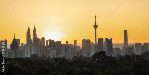 Skyline of Kuala Lumpur, Malaysia during sunrise Canvas Print
