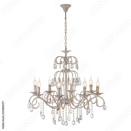 Cuadros en Lienzo Eight lamp chandelier with crystal pendants