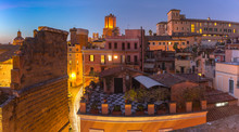 Aerial View Of Old Town, Rome,...