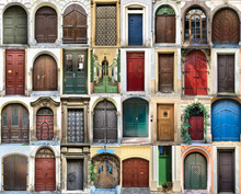 Colourful Front Doors Composition