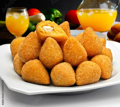 Fototapeta Coxinha of chicken, Brazilian snack obraz