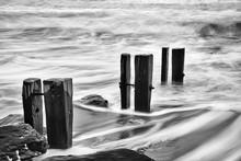 Waves, Rocks And Groynes