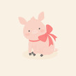 Cute little pig