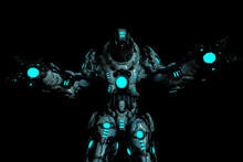 Predator Black And Blue Glowin...