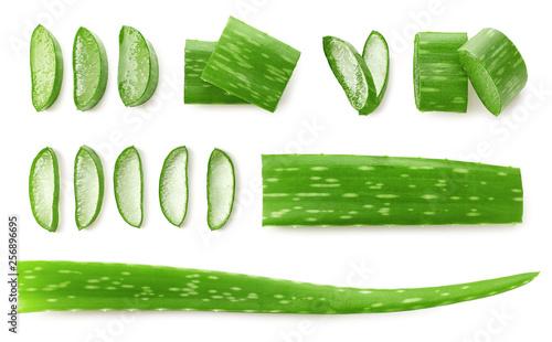 Obraz na plátně  Fresh sliced Aloe Vera leaf