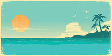 Tropical Island Paradise.Vinta...