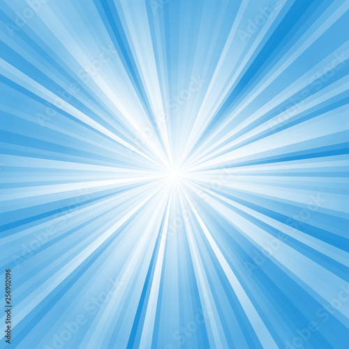 Abstract ray burst background, glow effect, comix Fototapeta