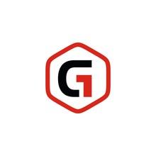 Initials Letter G Hexagon Abst...