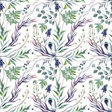 Watercolor Botanical Greneery Pattern