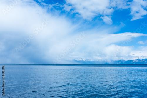 Aluminium Prints Green coral Tahoe Lake
