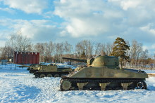 Old Tank On The Snow, Particip...