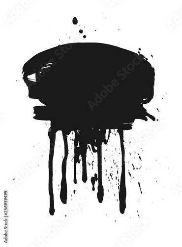 Fotografija Abstract splatter black color background