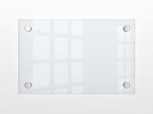 Blank Glass Nameplate. 3d Illu...