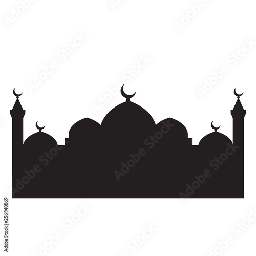 Fotografering  Mosque silhouette vector