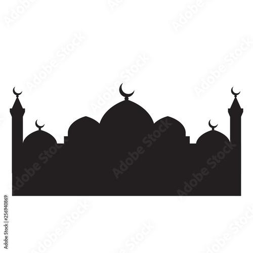 Fotografering  Mosque silhouette vector