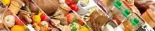 Panorama Food Ingredients For Healthy Lifestyle.