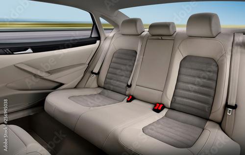 Fotomural  back passenger seats of car