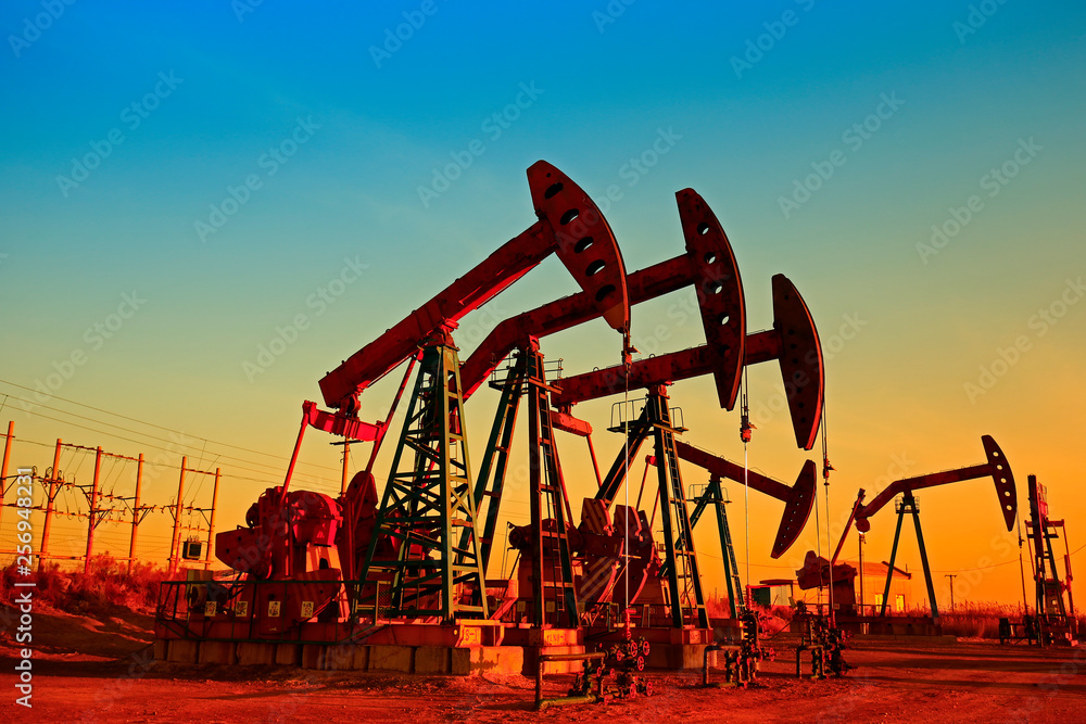 Fototapety, obrazy: The oil pump, industrial equipment
