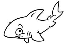 Shark Fish Animal Character Co...