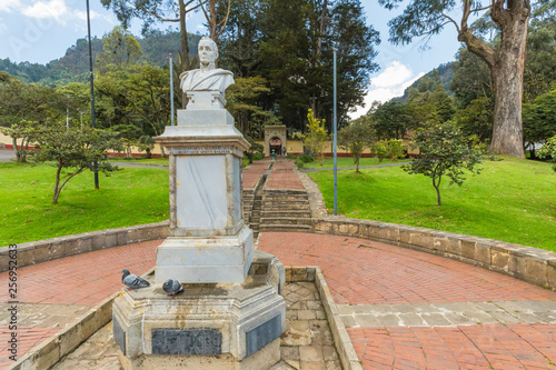 simon bolivar statue and vacation house in bogota colombia Wallpaper Mural