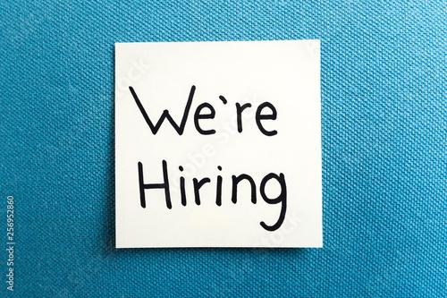 Fotografía  Concept of hiring and job