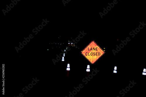 Fotografie, Obraz  Lane Closed