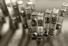 The Words WORDS With Old Typew...