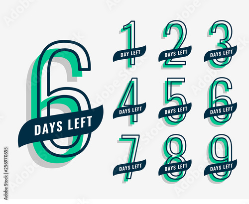 Valokuvatapetti upcoming event marketing banner with number of days left
