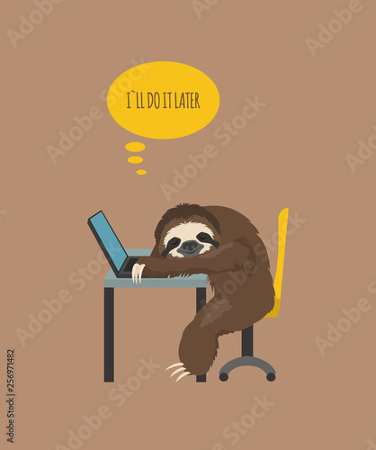 The story of one sloth Canvas Print
