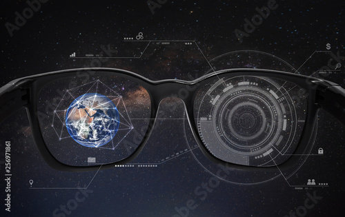 Photo Smart glasses, VR virtual reality, and AR augmented reality technology