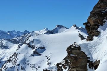 ski de randonnée dans les Alpes