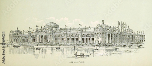 City of Chicago. Engraving illustration