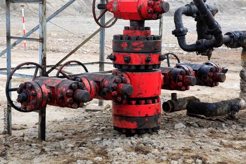 Fotografía  Petroleum machinery equipment that is full of oil