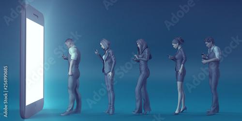 Valokuvatapetti Technological Zombies