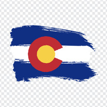 Flag Of Colorado From Brush St...
