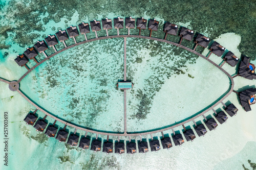 Fotografie, Obraz  Aerial drone photo - The beautiful Maldives islands