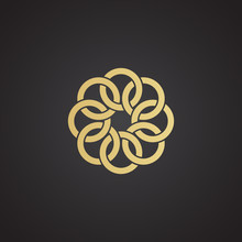 Vector Logo Design Of Interlocking Rings