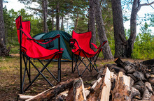 View Of Tourist Camp With Red ...