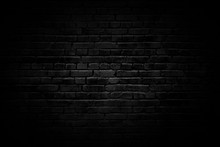 Black Brick Wall With Vignette