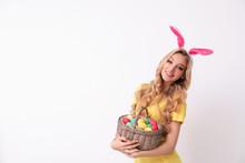 Beautiful Young Woman In Bunny...