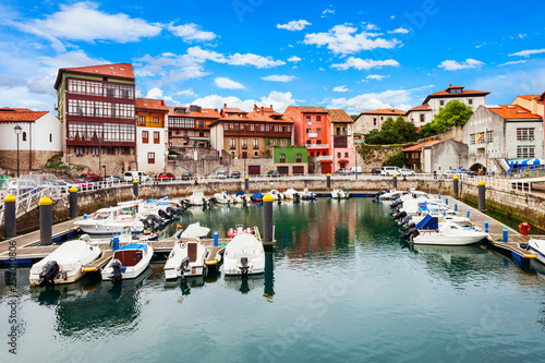 Photo  Llanes city marina in Spain