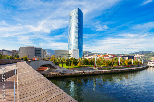Nervion River embankment in Bilbao