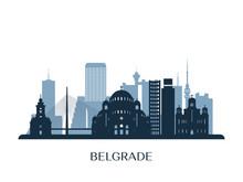 Belgrade Skyline, Monochrome S...